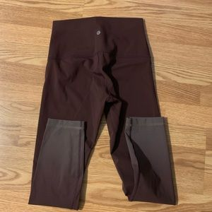 Lululemon burgundy ombré leggings
